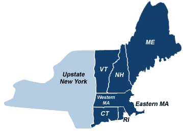 map of new england and new york