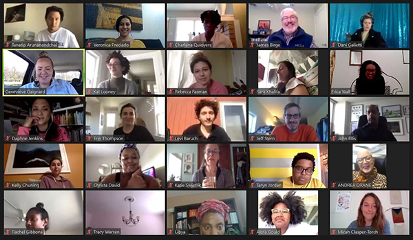 25 participants on zoom