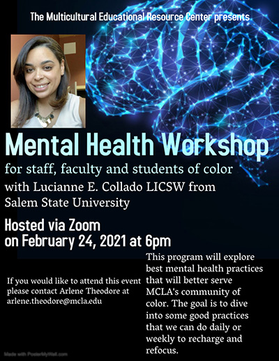 Poster for Mental Health Workshop